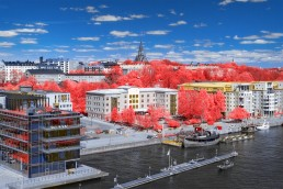 Söder från Gullmarsplan Infrared foto