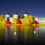 Gripsholms Slott Mariefred. Infrared Foto